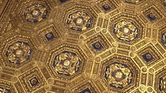 FLORENCE, ITALY: Beautiful golden ceiling of Palazzo Vecchio Stock Footage