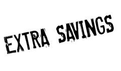 Extra Savings rubber stamp Stock Illustration