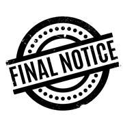 Final Notice rubber stamp Stock Illustration