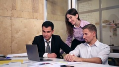 Group of business people on video conference Stock Footage