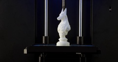 Done 3d model printed three dimensional printer 4k video. Additive manufacturing Stock Footage