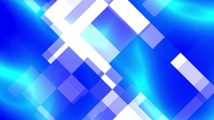 Abstract Blue Squares Swirls Cool Corporate Motion Background Loop 3 Stock Footage