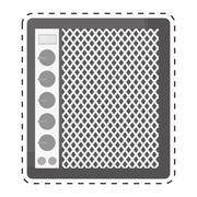 Speaker with knobs icon image Stock Illustration