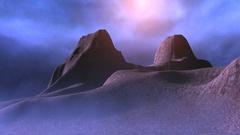 Cold barren landscape Stock Footage