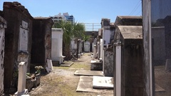 Above Ground Tombs in Historic Saint Louis Cemetery in New Orleans, Louisiana Stock Footage