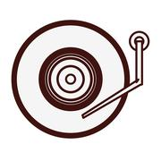 Turntable music icon image Stock Illustration