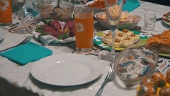 Homemade Cooking Food on the Table Stock Footage