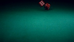 Dice Roll on the Game Table Stock Footage