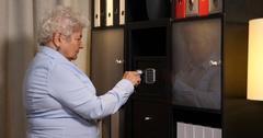 Old Woman Unlock Code Combination Safe Deposit Box Counting Us Dollars Usd Bills Arkistovideo