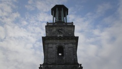 Hollowed Out Church in Hannover, Germany Stock Footage