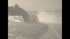 Vintage 16mm film, 1928 Niagara falls, sequence Stock Footage