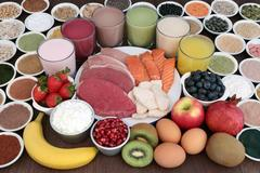 Body Building Health Food and Drinks Stock Photos