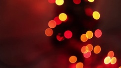 Blurred Christmas lights twinkling, beautiful Stock Footage