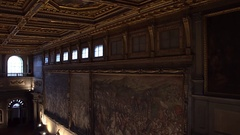 FLORENCE, ITALY: Interior of Palazzo Vecchio Stock Footage