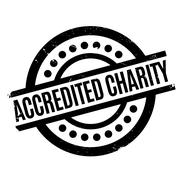 Accredited Charity rubber stamp Stock Illustration