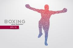 Boxer from triangles. Stock Illustration