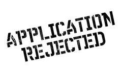 Application Rejected rubber stamp Stock Illustration
