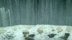 Concepts Power and Preservation of Clean Water Environment. Waterfall on River Stock Footage
