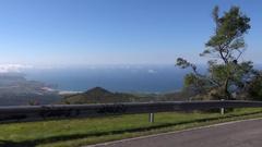 Asturias coast from car Stock Footage