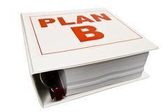 Plan B 3-Ring Binder Stock Photos