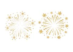 Firework gold isolated set Piirros