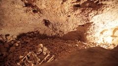 Hill of human skulls Stock Footage