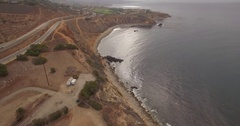 Aerial footage over Rancho Palos Verde, California Stock Footage