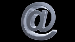 At sign symbol rotate email internet web social network e-mail digital loop 4k Stock Footage
