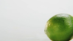 Limes. Camera Moving From Left to Right Stock Footage