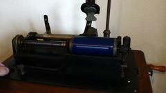 4k Edison Talking Machine Phonograph Turning On Stock Footage