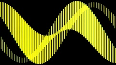 Yellow Background Wave Visual Loop HD Stock Footage