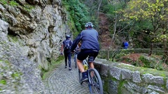 Bike riding, Matka is popular bicycle riding place Stock Footage