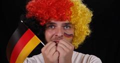 Happy German Supporter Man Cheering Goal Football Team Win Fan Shouting Ovation Stock Footage