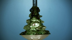 Vintage Electronic Glass Christmas Bubble Ornament Shaped As A Christmas Tree Stock Footage