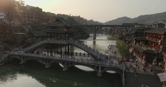 Fenghuang (Phoenix) ancient Town Stock Footage