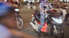 Night traffic in Ho Chi Minh City Stock Footage