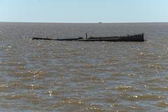 Shipwreck in the Rio de la Plata Stock Photos