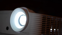 Presentation projector close up Stock Footage