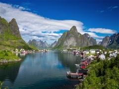 Lofoten archipelago Stock Footage