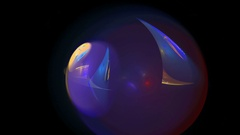 Blue galaxy ball abstract loop motion background Stock Footage