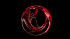 Red Christmas ball abstract loop motion background Stock Footage