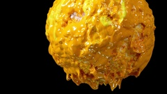 Yellow moon made by plastisol ink Stock Footage