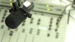 Mixer in the radio Studio Stock Footage