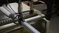 Woodworking machine work Stock Footage