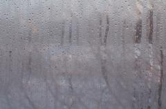 Window glass with condensation water drops Stock Photos