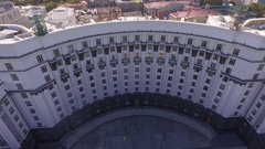 The house of government of Ukraine. Unusual aerial view Stock Footage