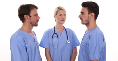 Medical Team Work Experience Talking Cooperation Hospital Health Care Concept Stock Footage