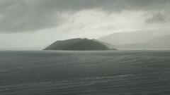 Cloudy weather at sea. Rain. Grey Sky. Stock Footage