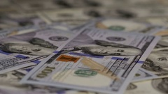 One hundred dollars pile as background Stock Footage
