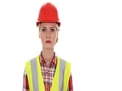 Engineer Woman Looking Camera Female Show Usd Bills Cash Earnings Salary Income Stock Footage